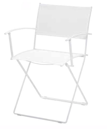 【イス/ガーデン】プレインエアアームチェア/01ホワイト【55cm(幅) x51cm(奥行) x83cm(高さ) 屋内 屋外 室内 ベランダ 椅子 いす 送料別 家庭用】