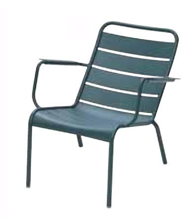 【イス/ガーデン】ルクセンブールローアームチェア/02シダーグリーン【69cm(幅) x86.5cm(奥行) x72cm(高さ) 屋内 屋外 室内 ベランダ 椅子 いす 送料別 家庭用】