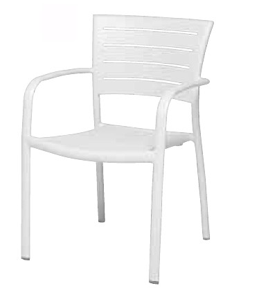 【イス/ガーデン】モナコアームチェア【57cm(幅) x56cm(奥行) x83cm(高さ) 屋内 屋外 室内 ベランダ 椅子 いす 送料別 家庭用】