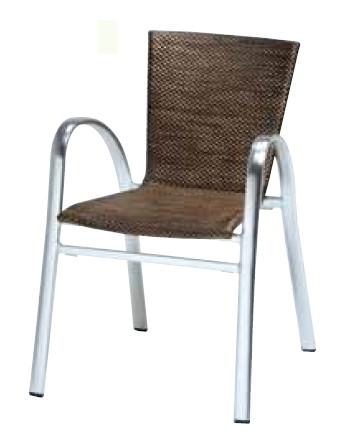 【イス/ガーデン】ストラスブルグアームチェア/0843【57cm(幅) x59cm(奥行) x79cm(高さ) 屋内 屋外 室内 ベランダ 椅子 いす 送料別 家庭用】