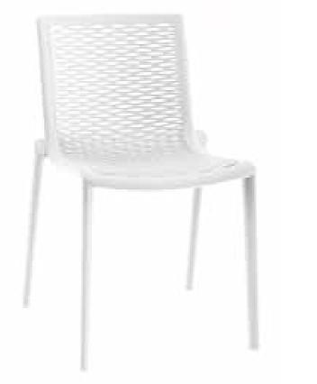 【イス/ガーデン】ネットカットサイドチェア/ホワイト【50.5cm(幅) x55.5cm(奥行) x79cm(高さ) 屋内 屋外 室内 ベランダ 椅子 いす 送料別 家庭用】