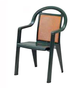 【イス/ガーデン】サモアD3/78アマゾニアグリーン【57cm(幅) x60cm(奥行) x91cm(高さ) 屋内 屋外 室内 ベランダ 椅子 いす 送料別 家庭用】