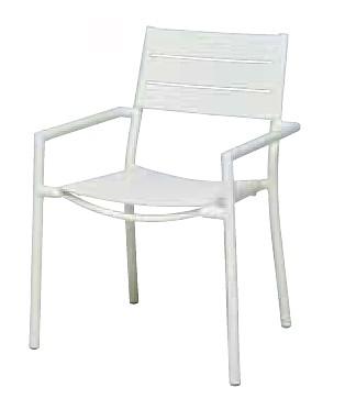【イス/ガーデン】NCアルミアームチェア/ホワイト【66cm(幅) x60cm(奥行) x86cm(高さ) 屋内 屋外 室内 ベランダ 椅子 いす 送料別 家庭用】