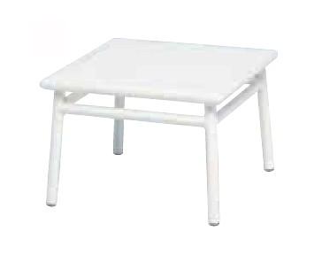 【サイドテーブル/屋外】NCサイドテーブル50x50/ホワイト【テーブル 角型 送料別 家庭用】