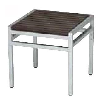 【サイドテーブル/屋外】サンレノサイドテーブル45x45/シルバー+ブラウン【テーブル 角型 送料別 家庭用】