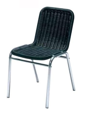 【イス/ガーデン】メデュラ/ブラック【44cm(幅) x56cm(奥行) x76cm(高さ) 屋内 屋外 室内 ベランダ 椅子 いす 送料別 家庭用】