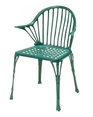 【イス/ガーデン】フィリピナス111/06グリーン【屋内 屋外 室内 ベランダ 椅子 いす 送料別 家庭用】