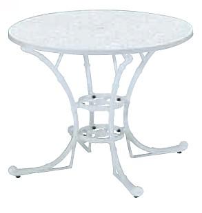 【テーブル/ガーデン】フィリピナステーブル/ホワイト【屋内 屋外 室内 ベランダ 丸型 円型 円形 送料別 家庭用】