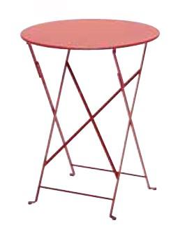 【テーブル/ガーデン】ビストロテーブル60/67レッド【屋内 屋外 室内 ベランダ 丸型 円型 円形 送料別 家庭用】
