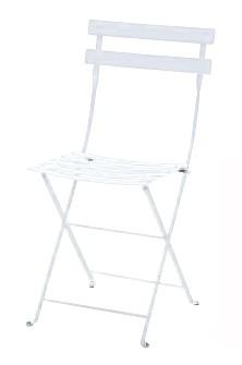 【イス/ガーデン】メタルフォールディングチェア/01ホワイト【38cm(幅) x42cm(奥行) x83cm(高さ) 屋内 屋外 室内 ベランダ 椅子 いす 送料別 家庭用】