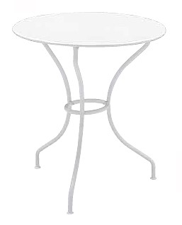 【テーブル/ガーデン】オペラテーブル67/01ホワイト【屋内 屋外 室内 ベランダ 丸型 円型 円形 送料別 家庭用】