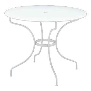【テーブル/ガーデン】オペラテーブル96/01ホワイト【屋内 屋外 室内 ベランダ 丸型 円型 円形 送料別 家庭用】