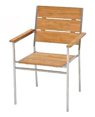 【イス/ガーデン】リクレイムドアームチェア【61cm(幅) x61.5cm(奥行) x90cm(高さ) 屋内 屋外 室内 ベランダ 椅子 いす 送料別 家庭用】