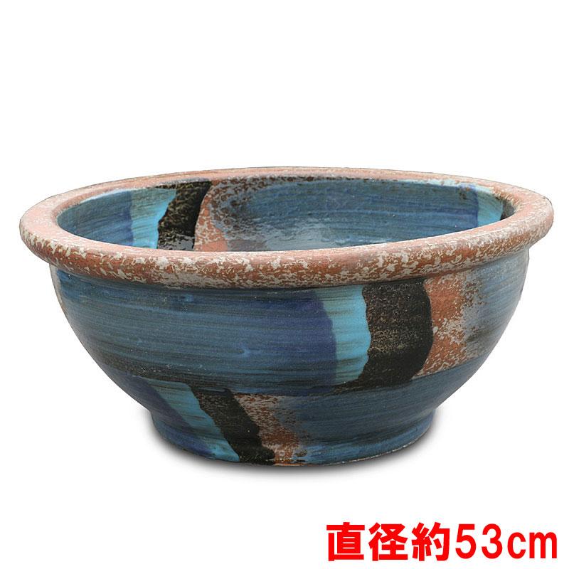 【化粧鉢】睡蓮鉢 ウィンドストリームブルー WSB-02 直径約53cm【睡蓮鉢 ガーデン 鉢 庭 鉢】