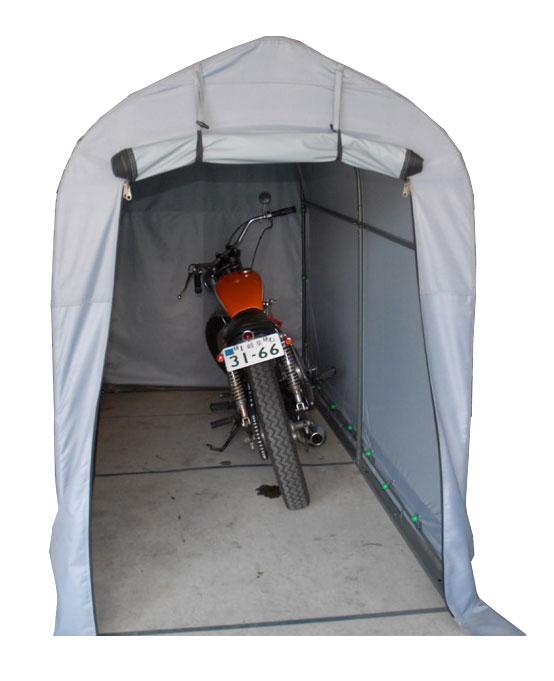 バイクガレージ GAREASY ロング 【バイク収納 バイク保管庫 送料無料(沖縄・離島は送料別) 代金引換不可】