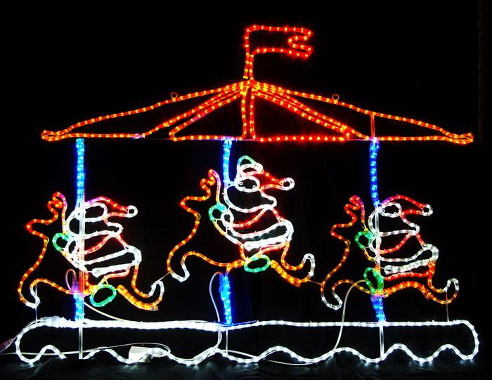 2Dモチーフ メリーゴーランド L2DM143【コロナ産業 イルミネーション モチーフ LED 照明 ライト クリスマス サンタ】