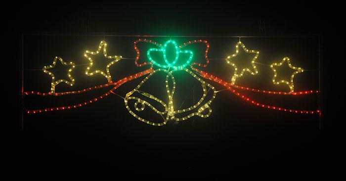 イルミネーション 12/11 10:00-12/18 9:59 ポイント10倍/2Dモチーフ ベルスター L2DM289【コロナ産業 イルミネーション モチーフ LED 照明 ライト クリスマス サンタ】