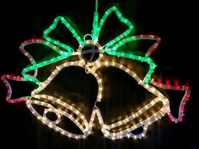 2Dモチーフ ツインベル L2DM297【コロナ産業 イルミネーション モチーフ LED 照明 ライト クリスマス サンタ】