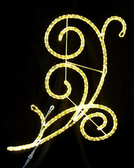 イルミネーション 12/11 10:00-12/18 9:59 ポイント10倍/2Dストリートモチーフ アラベスク110 L2DM300【コロナ産業 イルミネーション モチーフ LED 照明 ライト】