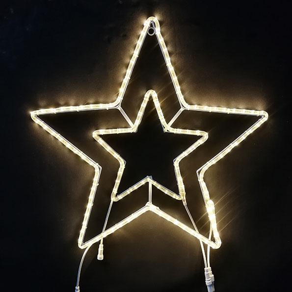 2Dスターモチーフ スター70 電球色 L2DM509【コロナ産業 イルミネーション モチーフ LED 照明 ライト クリスマス】