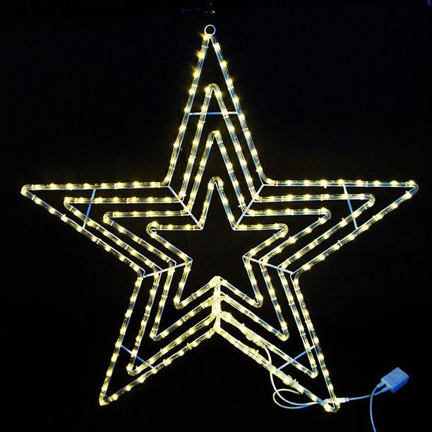 イルミネーション 12/11 10:00-12/18 9:59 ポイント10倍/2Dスターモチーフ ビッグスター電球色 L2DM601D【コロナ産業 イルミネーション モチーフ LED 照明 ライト クリスマス】