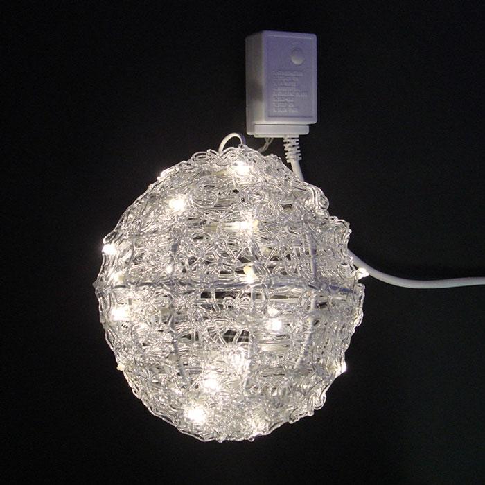 12/28-1/5冬季休業(出荷・配送等1/6以降)3Dモチーフ 電球色LEDクリスタルボールライト20cm L3D222D【コロナ産業 イルミネーション モチーフ LED 照明 ライト】