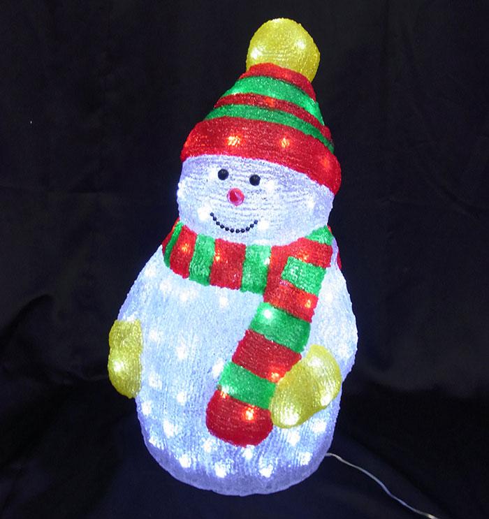3Dスノーマンモチーフ リトルスノーマン L3D326【コロナ産業 イルミネーション クリスマス モチーフ LED 照明 ライト】