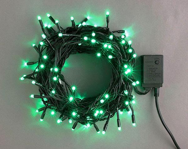 LEDライト200球連結専用(電源部別売り)緑 LRK200G スタンダード【コロナ産業 イルミネーション 電飾 LED ライト】