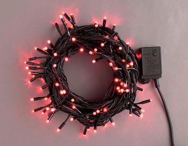 LEDライト200球連結専用(電源部別売り)赤 LRK200R スタンダード【コロナ産業 イルミネーション 電飾 LED ライト】