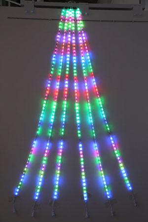 RGB 2m ドレープライト(コントローラー点滅式)336球 RD2RGB【コロナ産業 イルミネーション 電飾 LED ライト】