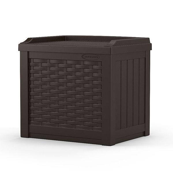 22ガロンチェアーボックス(ラタン調)【ベランダ収納用品 ベンチ収納用品 ベランダ用収納 イス型 チェアー型】