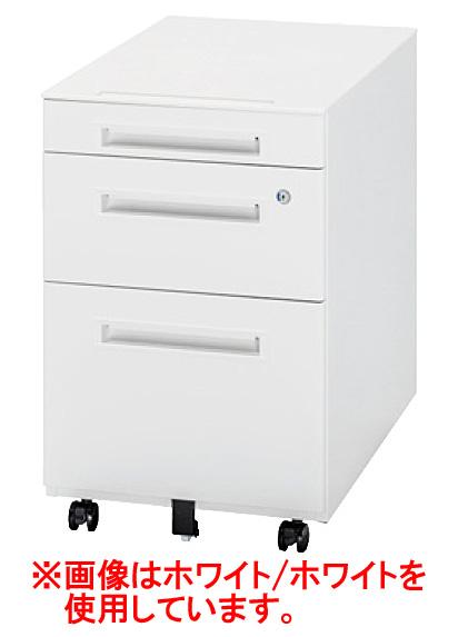 生興 オフィス用品 樹脂天板ワゴン WGN-603WS(グレー/シルバー)【オフィスデスク 脇机 オフィスワゴン A4】