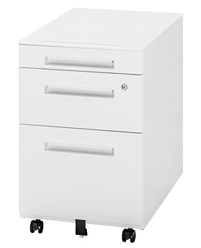 生興 オフィス用品 樹脂天板ワゴン WGN-603WW(ホワイト/ホワイト)【オフィスデスク 脇机 オフィスワゴン A4 ペントレー】