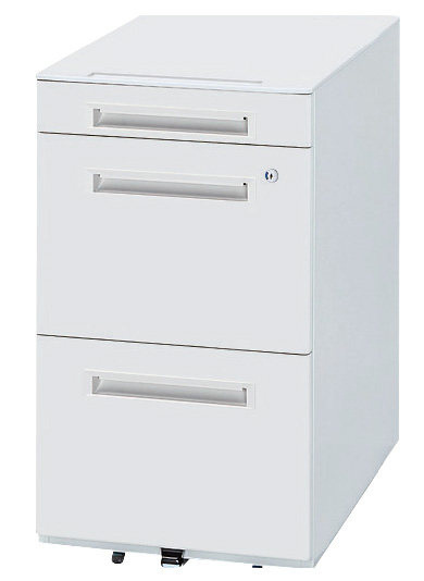生興 オフィス用品 樹脂天板ワゴン WGN-683WW(ホワイト/ホワイト)【オフィスデスク 脇机 オフィスワゴン A4 ペントレー】