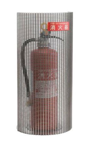 消火器ボックス フロアータイプ PFS-03S-R【消火器スタンド カバー 屋内 オフィス 施設 おしゃれ】