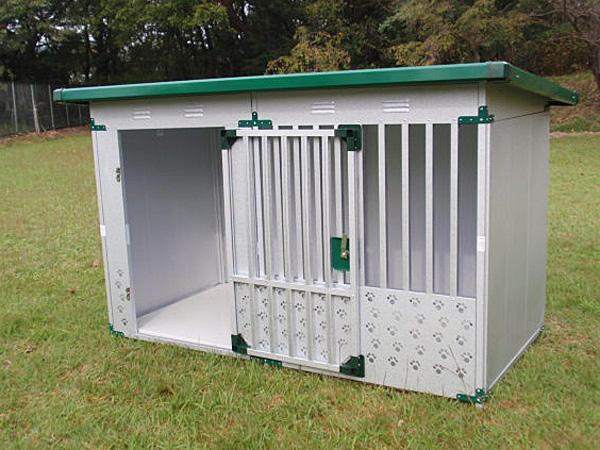 ペット用品 ドッグハウス DFD-1 床付タイプ(0.5坪タイプ屋外用犬小屋)【小型犬 中型犬 大型犬 犬小屋 】
