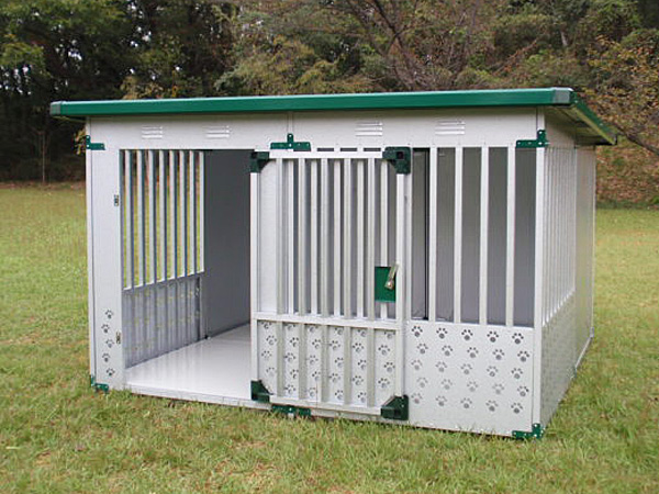 ペット用品 ドッグハウス DFD-2(1坪タイプ屋外用犬小屋)床付タイプ【小型犬 中型犬 大型犬 犬小屋 】