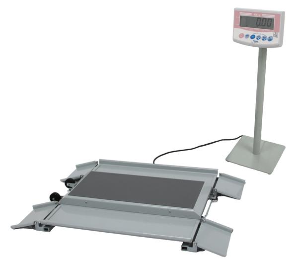 【キャッシュレス5%還元】デジタル体重計 車いす体重計 dp-7101pw-k