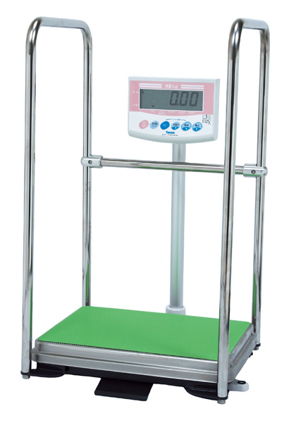 はかり デジタル体重計【業務用】 手すり付き DP-7101PW-T