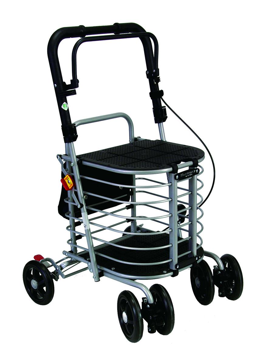 介護 歩行器 シルバーカー 福祉 ハーモニー AL 島製作所 シルバーカー 歩行器 座面つきタイプ 保冷バックなし [SG規格適合商品]
