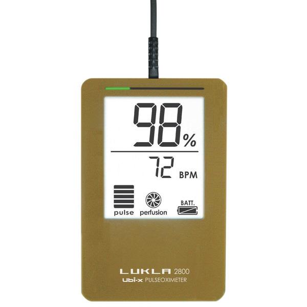 パルスオキシメーター LUKLA 2800 マスタードイエロー LKL2800m 日本製 ( パルスオキシメータ 医療機器 血中 酸素濃度 計 )
