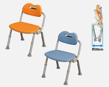 PN-L42211パナソニック 椅子 いす シャワー チェアー ユクリア コンパクト折りたたみ 軽量 (折り畳み 防カビ加工 背もたれ 【ミドルサイズ】 ワンタッチ 記念日 お誕生日 敬老の日 おじいちゃん おばあちゃん プレゼント)(代引き不可)