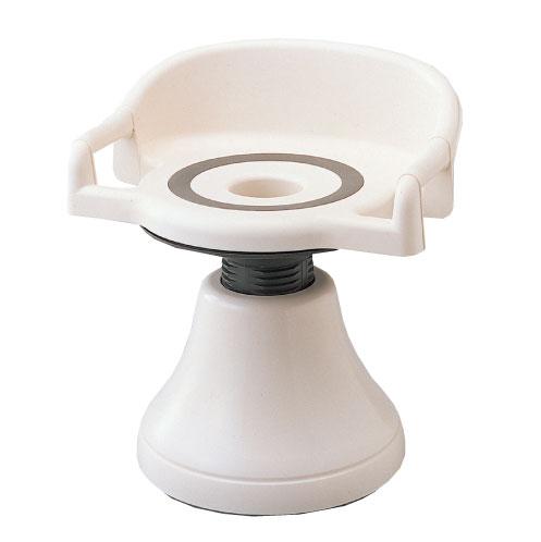 介護用品 入浴 シャワーチェア 腰当て付き座面回転タイプ ユーランド回転椅子(安心ガード付)