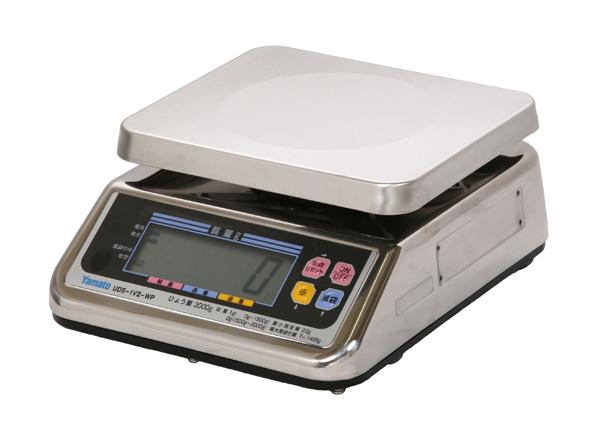 【キャッシュレス5%還元】デジタル上皿自動はかり UDS-1V2-WP-15 防水 【15kg】