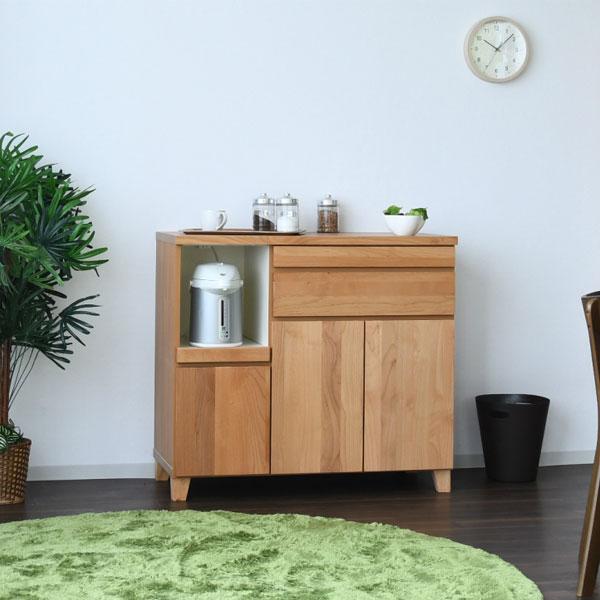 木目調のデザインが優しい食器棚です 送料無料 食器棚 日本製 ダイニングボード 幅100cm 完成品 キッチン収納 ダボ 木製 ナチュラル カップボード 家具 新品未使用正規品 デポー