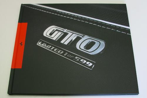 フェラーリ 599 GTO ハードカバー カタログ 2010