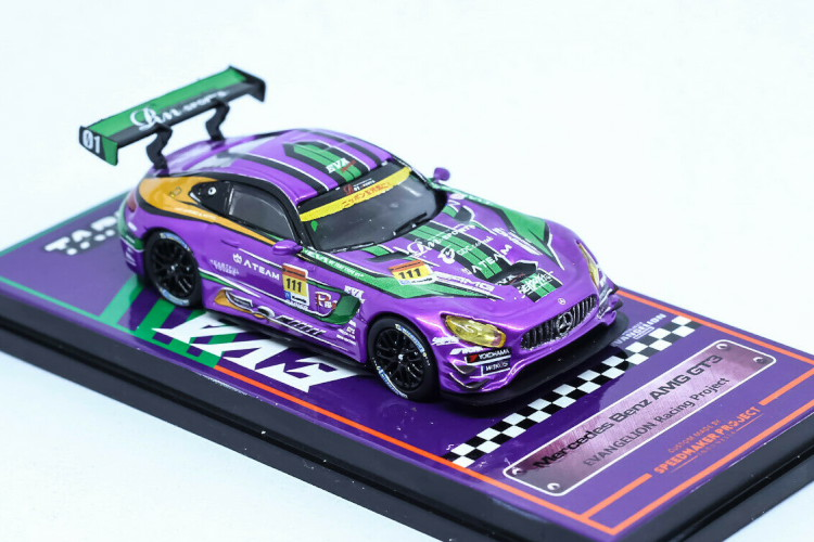Mercedes Tarmac Team エヴァンゲリオン Racing Works Custom メルセデス・ベンツ GT3 GT3 AMG Eva Custom レーシングチーム AMG Tarmac Benz Works 1:64 エヴァ 1/64 Diecast