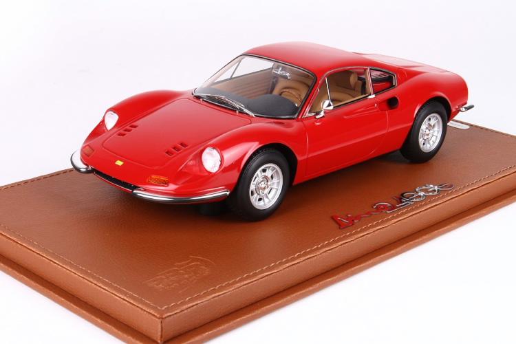 BBR 1/18 フェラーリ ディーノ 246GT TIPO 607L 1969 ロッソコルサレッド 246台限定 FERRARI DINO ROSO CORSA RED