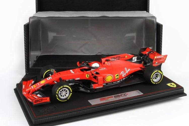 BBR 1/18 フェラーリ SF90 #5 4th オーストラリア グランプリ F1 2019 レザー台座 60台限定 S. Vettel Ferrari SF90 #5 4th Australian GP F1 2019 with showcase and leather box