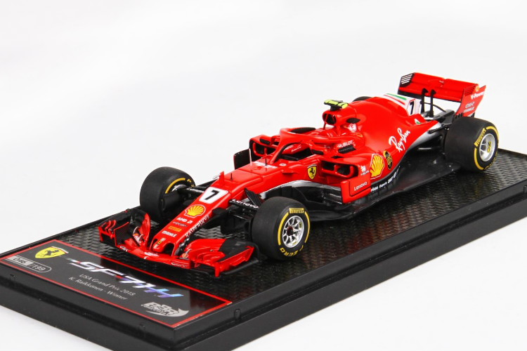 BBR 1/43 フェラーリ SF71H USA オースティン 2018 優勝 ライコネン レッド BBR 1:43 Ferrari SF71H GP USA Austin 2018 Winner Raikkonen RED